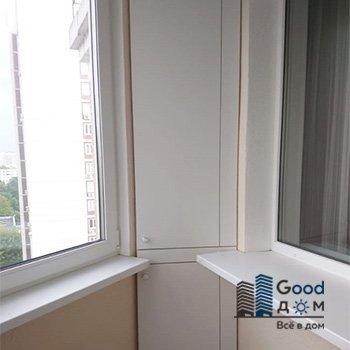 Угловой ЛДСП шкаф на балкон