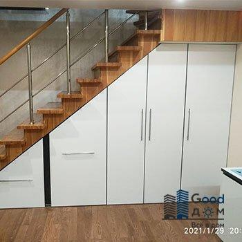 Шкаф под лестницу ДСП